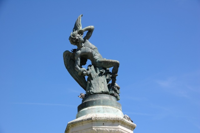 Statue of the Fallen Angel, Retiro, Madrid