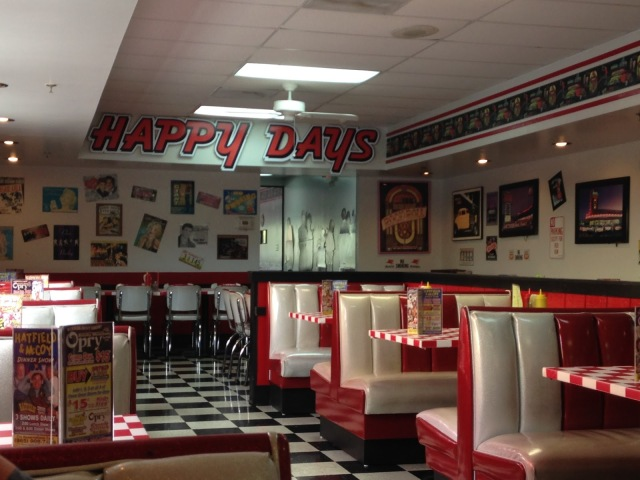 happy days diner, gatlinburg